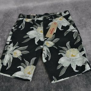Levi's Mens Straight Chino Floral Hawaiian Shorts